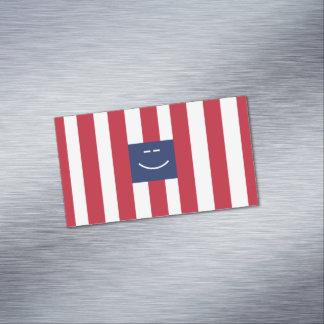 Tarjetas de visita magnéticas cuadradas sonrientes