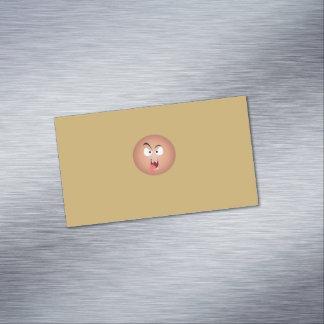 Tarjetas de visita magnéticas de la cara loca