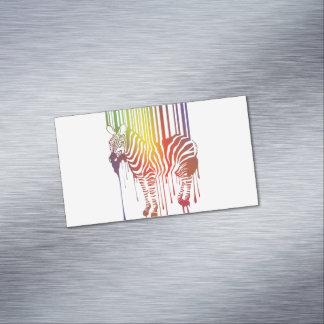 Tarjetas de visita magnéticas de la cebra