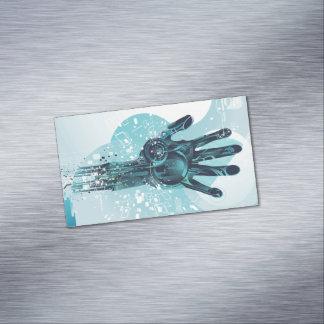 Tarjetas de visita magnéticas de la mano del robot
