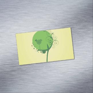 Tarjetas de visita magnéticas del árbol abstracto