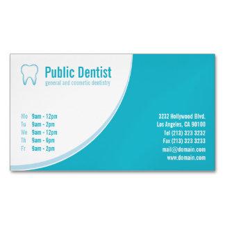 Tarjetas de visita magnéticas del cuidado dental tarjetas de visita magnéticas (paquete de 25)