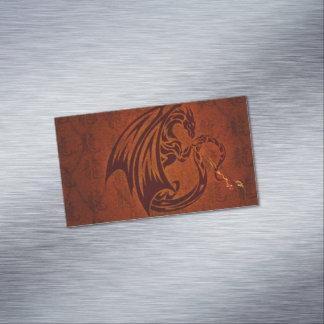 Tarjetas de visita magnéticas del dragón