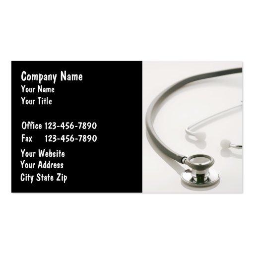 Tarjetas de visita médicas