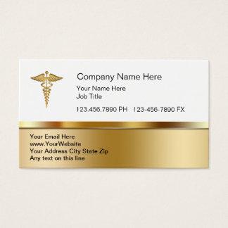 Tarjetas de visita médicas con clase