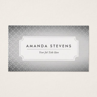 Tarjetas de visita metálicas de plata elegantes