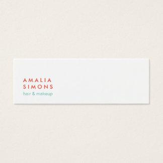 Tarjetas de visita minimalistas blancas