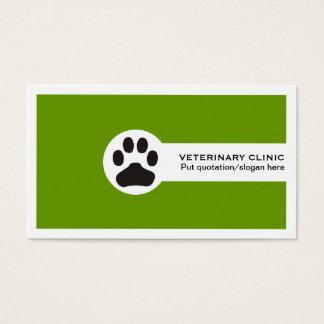 Tarjetas de visita minimalistas del veterinario/de