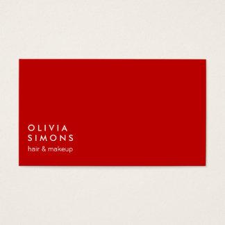 Tarjetas de visita minimalistas rojas