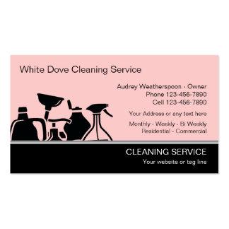 Tarjetas de visita modernas de la limpieza