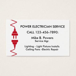 Tarjetas de visita modernas del electricista