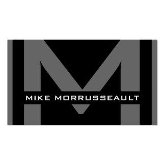 Tarjetas de visita modernas del monograma