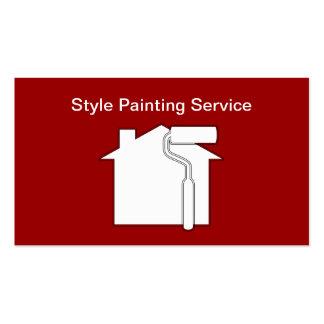 Tarjetas de visita modernas del pintor
