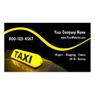 Tarjetas de visita modernas del taxi