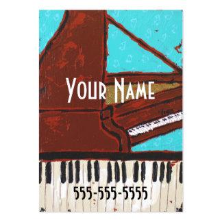 Tarjetas de visita musicales del piano de la diver