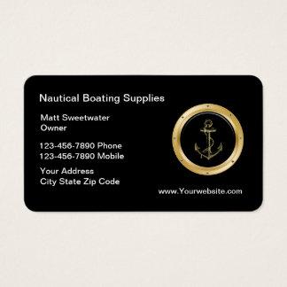 Tarjetas de visita náuticas