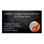 Tarjetas de visita negras de la salud de Yin-Yang