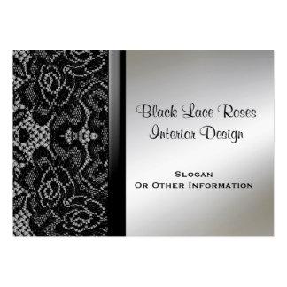 Tarjetas de visita negras del diseño interior del
