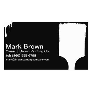 Tarjetas de visita negras del pintor