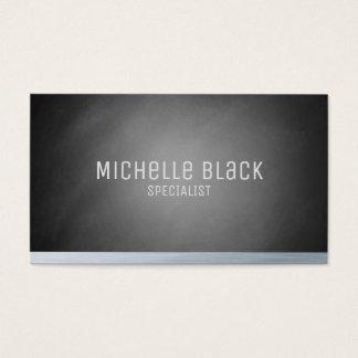 Tarjetas de visita negras elegantes de la pizarra
