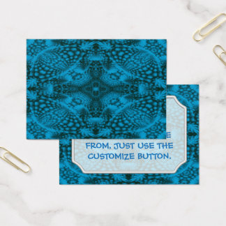 Tarjetas de visita negras y azules del modelo del