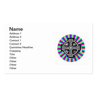Tarjetas de visita ópticas de la cruz céltica