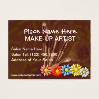 Tarjetas de visita para los artistas de maquillaje