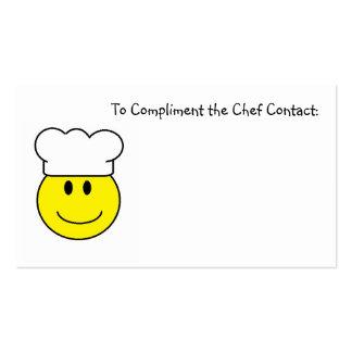 Tarjetas de visita para los cocineros