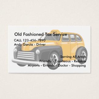 Tarjetas de visita pasadas de moda del impuesto