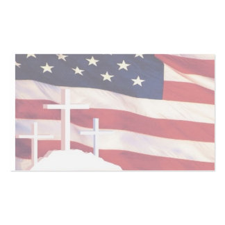 Tarjetas de visita patrióticas/cristianas