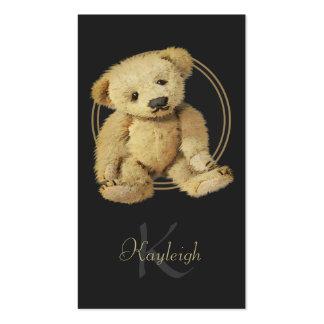 Tarjetas de visita personalizadas del oso de peluc