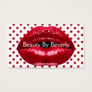Tarjetas de visita potentes de la belleza