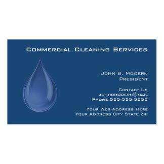 Tarjetas de visita profesionales de la limpieza
