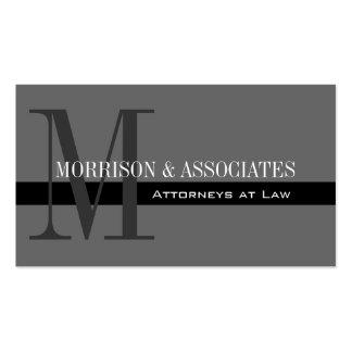 Tarjetas de visita profesionales del abogado grise
