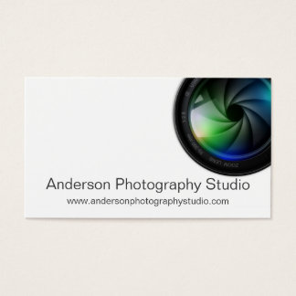 Tarjetas de visita profesionales del fotógrafo del