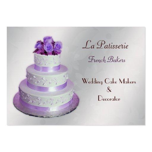 tarjetas de visita púrpuras de plata de los
