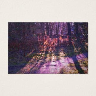 Tarjetas de visita púrpuras del bosque de Jane