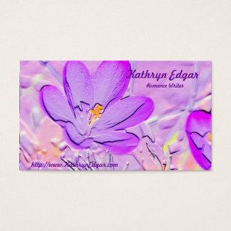 Tarjetas de visita púrpuras grabadas en relieve