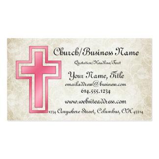 Tarjetas de visita religiosas cristianas cruzadas