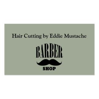 Tarjetas de visita retras de la peluquería de