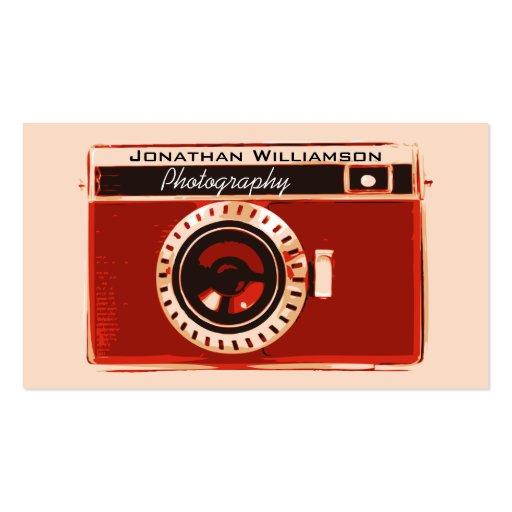 Tarjetas de visita rojas retras de la fotografía d