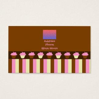 Tarjetas de visita rosadas de las magdalenas