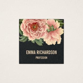 Tarjetas de visita rosadas de moda florales