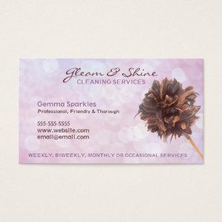 Tarjetas de visita rosadas de servicios de la