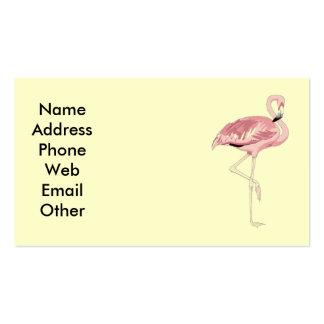 Tarjetas de visita rosadas del flamenco