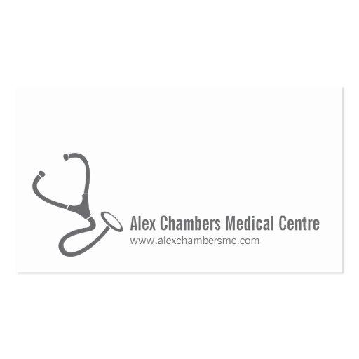 Tarjetas de visita simples de los médicos