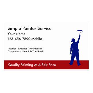 Tarjetas de visita simples del pintor