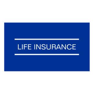 Tarjetas de visita simples del seguro de vida