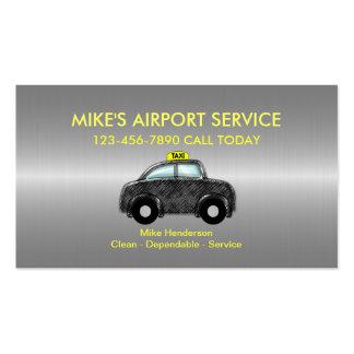 Tarjetas de visita simples del taxi del aeropuerto
