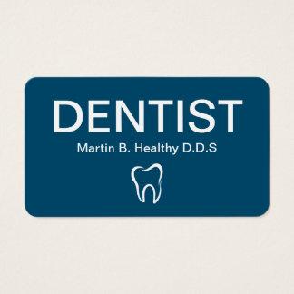 Tarjetas de visita simples intrépidas del dentista